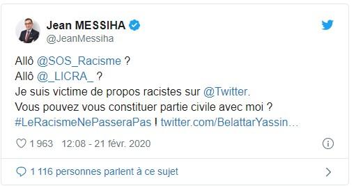 gauche humaniste messiha tweet