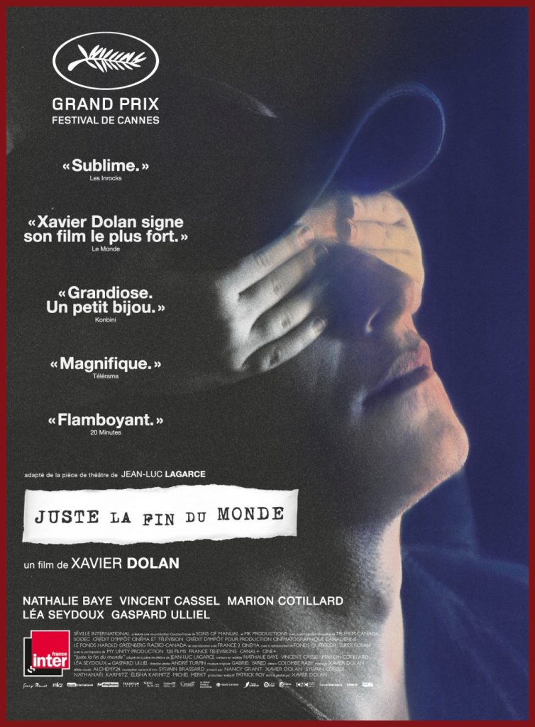 25 films juste la fin du monde de Xavier Dolan