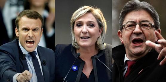élections politique 2022 macron, le pen, mélenchon