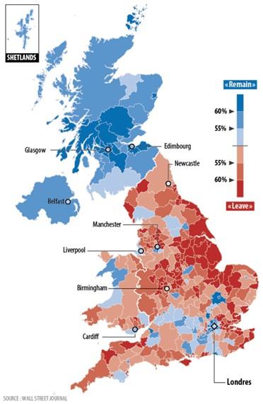 brexit royaume-uni résultats référendum