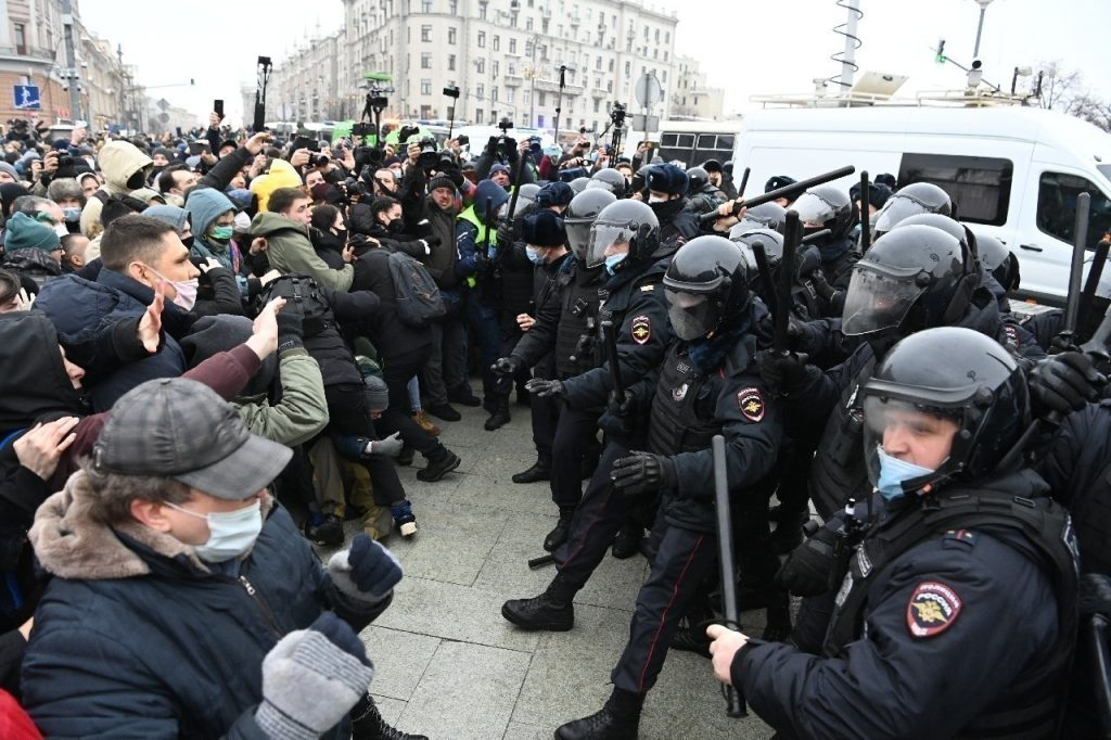 russie navalny manifestation répression